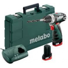 Metabo akkus fúró, csavarbehajtó PowerMaxx BS Basic 10,8V 2x2,0 Ah Li-Power